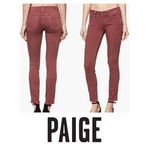 Paige Vintage Dark Rose Verdugo Ankle Jeans